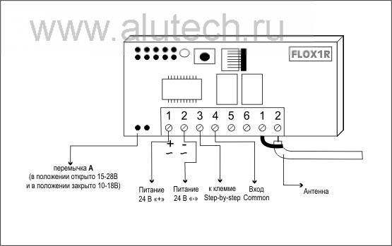 Подключение приемника FLOX1R к