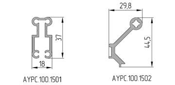 В системе  оптимизирована геометрия усиливающего профиля и профиля закладной крепления  ригеля