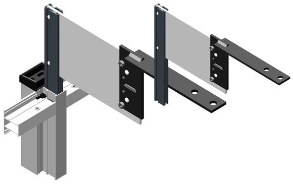 Усиливающий профиль  AYPC.100.1501 используется для сквозного остекления балконов и лоджий