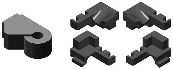 Для герметизации  места стыка стойки и ригеля в системе предлагается элемент из вспененного полиэтилена  AYPC.100.1805 и элемент отвода конденсата из EPDM  AYPC.100.1804  (-01)
