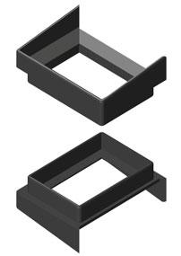Для герметизации  теплового зазора в месте перехода стоек разработаны заглушки из полиамида  для всех типоразмеров стоек