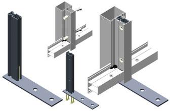 В качестве кронштейна  для крепления к плитам перекрытия (навесной способ монтажа) в системе  используется стальной кронштейн AYPC.VC65.0760