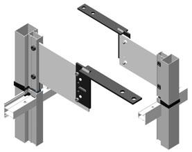 Для  крепления между плитами перекрытия (в проем) используется пластина AYPC.100.1901