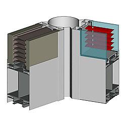 vozmozhna ustanovka zhaljuzi razlichnyh tipov, tolshhinoj ot 16 do 26 mm