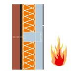 Die Verwendung der nicht brennbaren Materialien gewährt die Brandsicherheit
