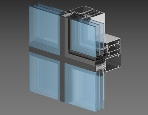 Интегрированное окно с параллельно-отставным типом открывания