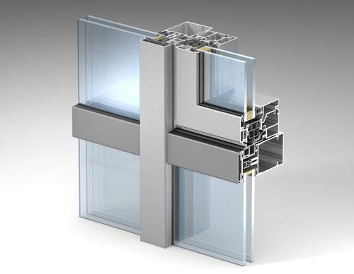 Интегрированное окно в фасад с установкой стандартного стеклопакета