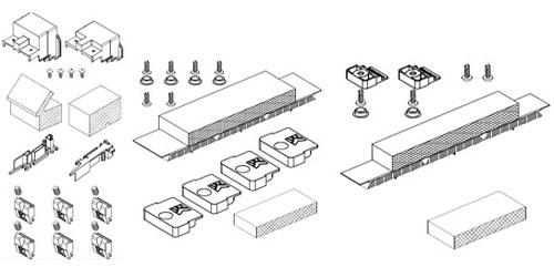 Состав комплектов притвора ALT SL160.0940, ALT SL160.0941 и ALT SL160.0942