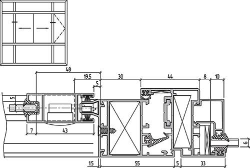 Решения для балконного остекления системы ALT C43