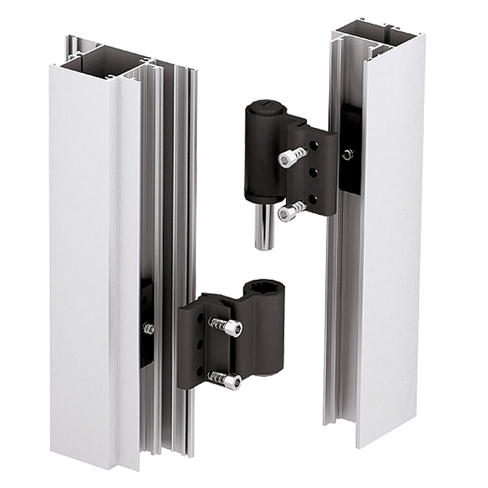 Installation of a grooved door hinge