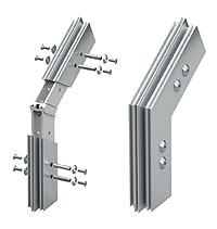 Herstellung der Bruchflächen. Übergang vom vertikalen zum geneigten Konstruktionsteil