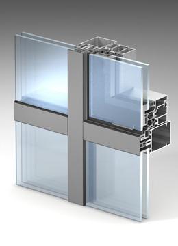 Полуструктурное остекление (имитация структурного остекления) ALT F50 SSG