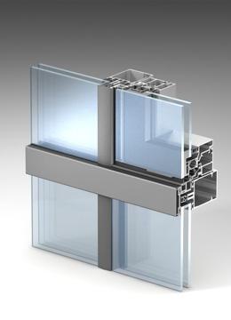 Полуструктурное остекление («горизонтальная линия») ALT F50 HL