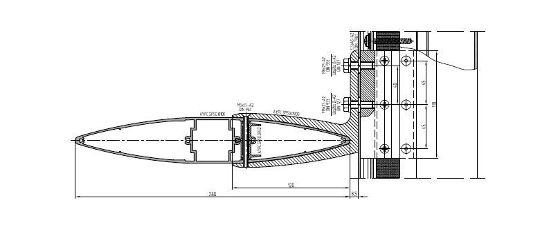 3.1 Придать солнцезащитной ламели дополнительную жесткость в местах сопряжения с кронштейном. Ламель устойчива как к положительному так и отрицательному ветровому давлению.