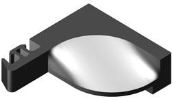 Zaglushka ALT.VC65.0807 germetiziruet styk stojka-rigel', pozvoljaet organizovat' otvod vlagi cherez drenazhnye otverstija v rigele