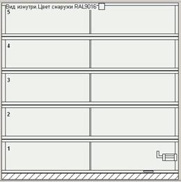 Ворота серии AluPro с одним импостом (уменьшенное количество вертикальных импостов)