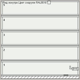 Ворота серии AluPro без вертикальных импостов (ширина ворот до 3000 мм)