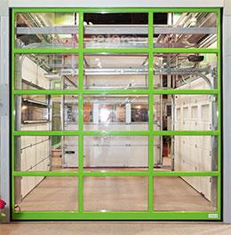 Типы полотна панорамных ворот серии AluLine