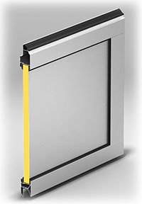 Панель с композитной вставкой. Толщина – 26 мм