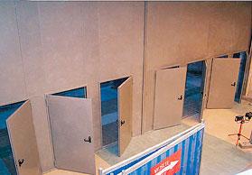 Встроенная дверь без порога