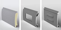 Дополнительными элементами конструкции роллетных ворот являются: концевые профили, направляющие шины, защитный короб...