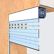 Built-in installation with the box on the inside