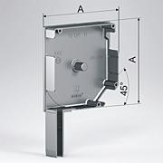 Алюминиевые боковые крышки 45°