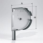 Алюминиевые боковые крышки круглые