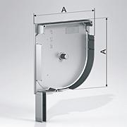 Алюминиевые боковые крышки полукруглые