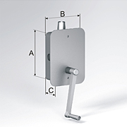 Cord operator for built-in assembly (up to 80 kg)