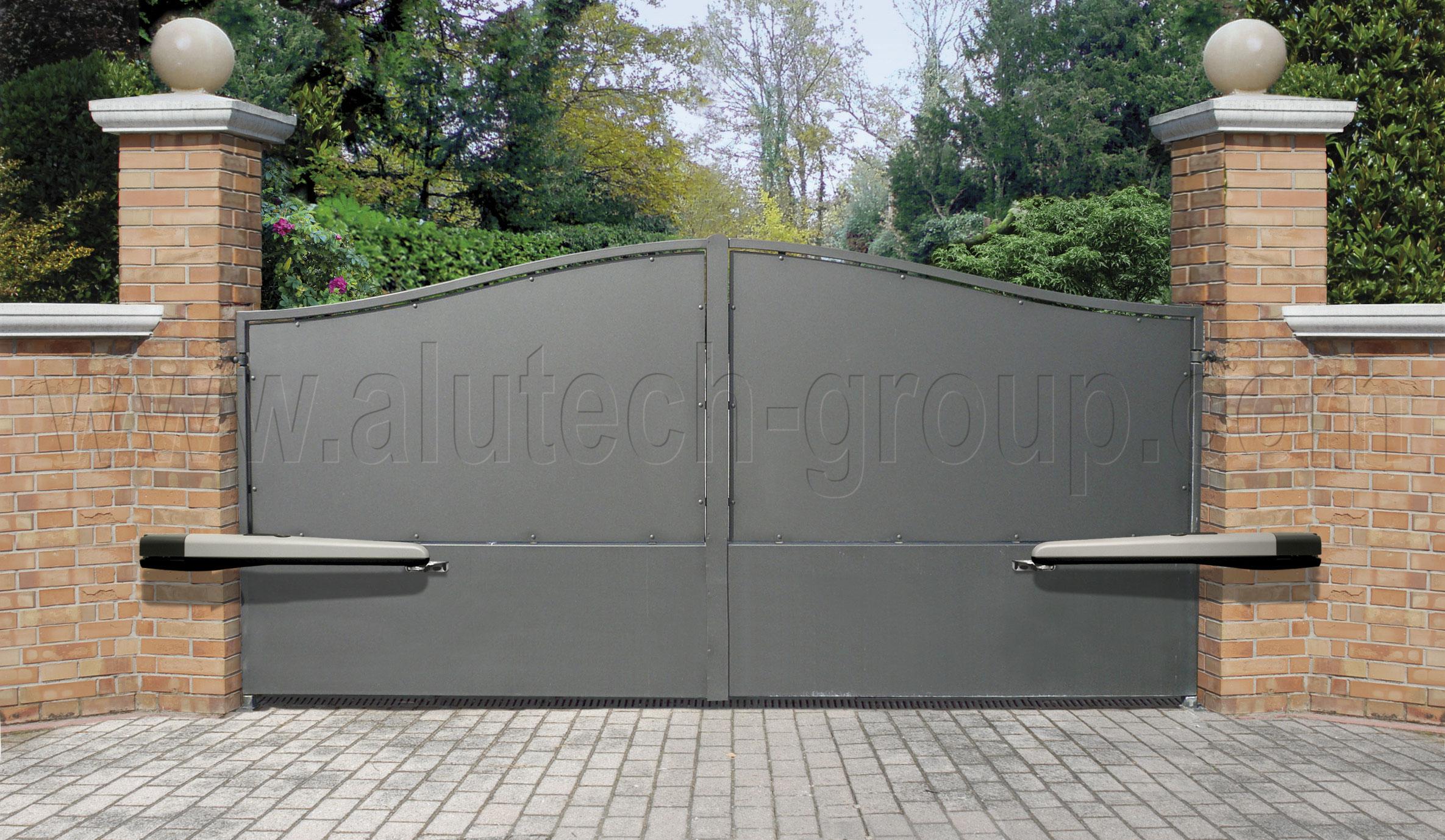 Распашные ворота с электроприводом найс калитки и ворота металлические цены винница