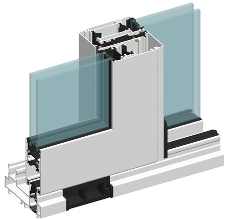 Window and door profiles section in ALT GS106 system.