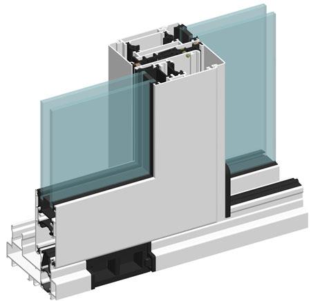 Сечение оконных и дверных профилей системы ALT GS106