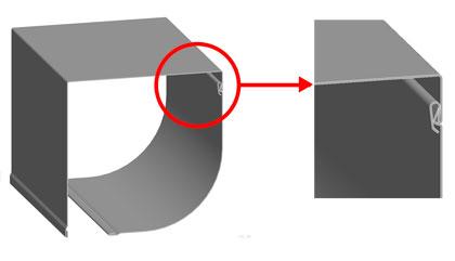 Новая конструкция замковой части защитных коробов