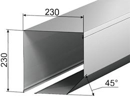 Роллформинговый защитный короб SB45/230