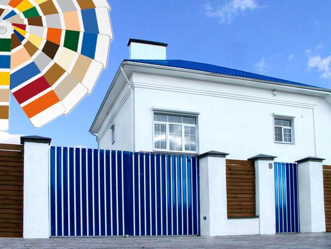 Вводится услуга на окраску алюминиевых профилей в воротах и калитках серии ADS400
