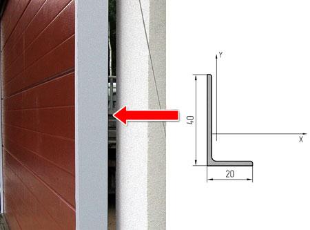 Профиль притвора для откатных ворот серии ADS400