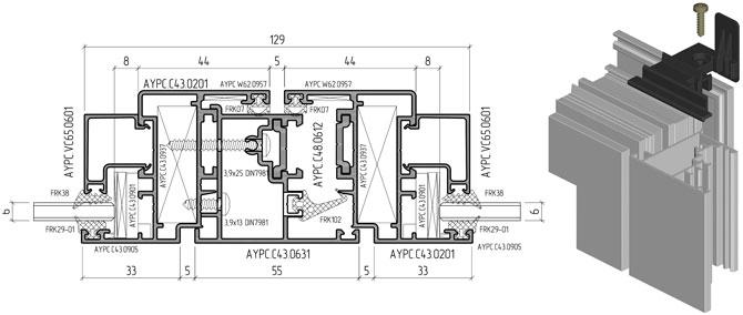 Расширение ассортимента архитектурно-строительных систем ALUTECH:  система рамного остекления