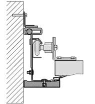 Монтаж в проеме без перемычек (ширина наличника 107 мм)