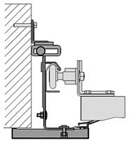 Монтаж в проеме без перемычек (ширина  наличника 145 мм)
