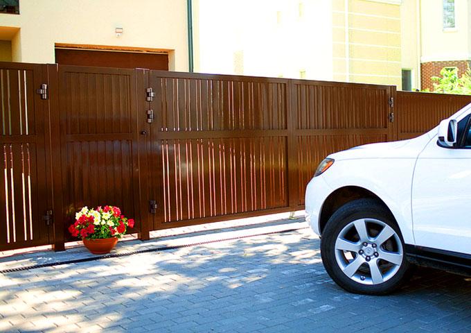 Новая конструкция распашных ворот серии ADS400, модель «ELEGANT»