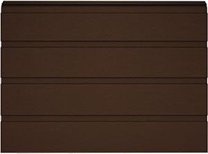 Сэндвич-панель S-гофр  с цветом внешней стороны RAL8017 (шоколадный)