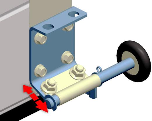 Регулируемый нижний роликовый кронштейн для гаражных ворот серии Standard