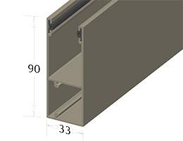Направляющая шина для роллетных ворот ирешетки – GR90x33(I)