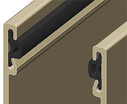 Направляющая шина для роллетных ворот ирешетки – GR90x33(I) с закатанной вставкой IS13