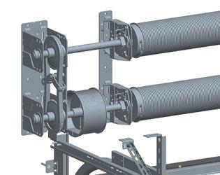 Двухвальная система балансировки промышленных ворот