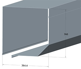 Защитный короб SB45/360-MH