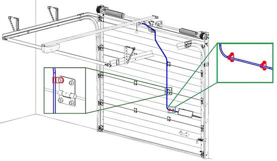 Трос разблокировки электропривода RK-6000