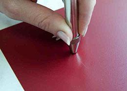 Определение  стойкости покрытия к царапанию