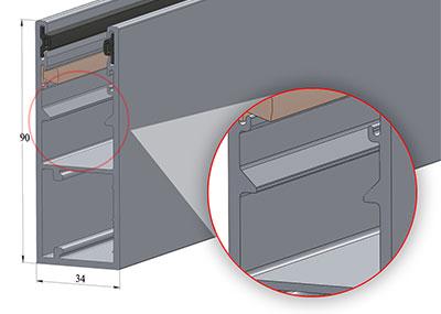 Модернизированная шина GR90×34E(IE/BE) светровыми зацепами